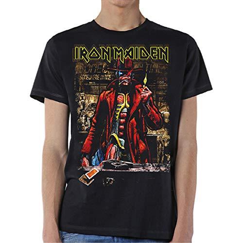 Iron Maiden Somewhere in Time Steve Harris Oficial Camiseta para Hombre (Medium)