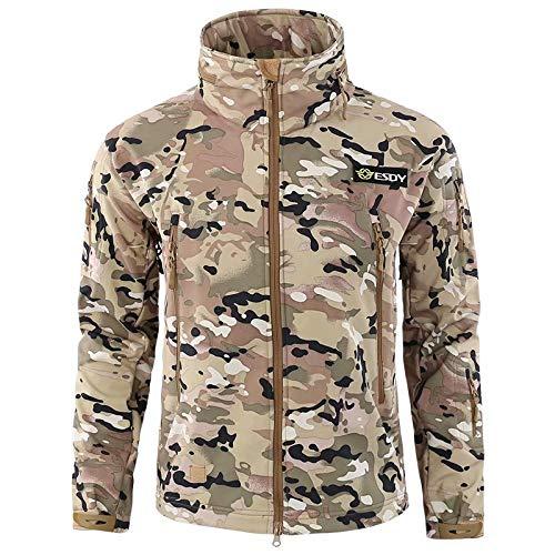 MILASIA heren softshell jas outdoor jas 6 kleuren S-3XL
