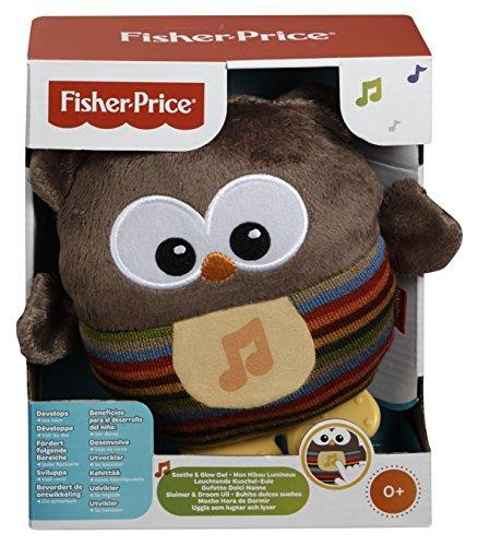 Fisher-Price Mon Hibou Lumineux peluche bébé musicale et lumineuse, dès la naissance, CDN55