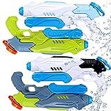 Water Gun for Kids 4 Pack Super Squirt Guns Long Range...