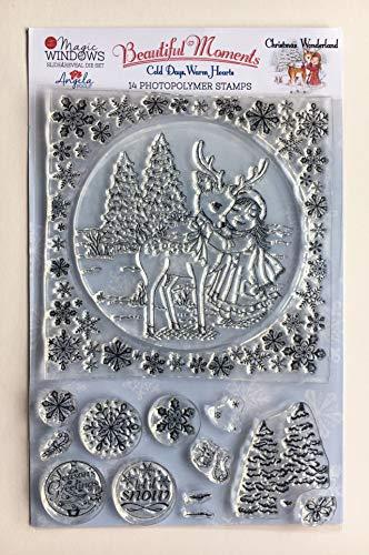 Angela Poole Christmas Wonderland Stempel-Set, A5, transparent
