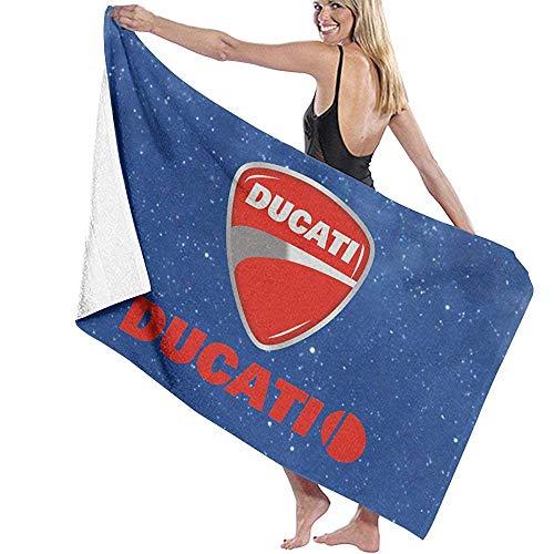 Olie Cam Ducati Beach Towel - Toalla de Microfibra Suave Absorbente súper Suave, Toallas de impresión de una Sola Cara