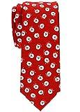 Retreez Herren Schmale Gewebte Weihnachten Krawatte Weihnachtsmann 6 cm - rot, Weihnachtsgeschenk