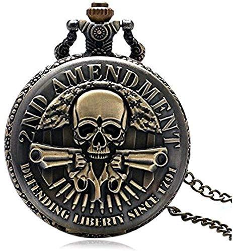 BEISUOSIBYW Co.,Ltd Collar Reloj de Bolsillo 2. Cambiar diseño de Armas Reloj de Bolsillo para Hombre Reloj Colgante Vintage