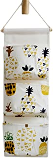 SONGLIN Nordic Style Wall Hanging Storage Bag Makeup Cosmetic Bag Sundries Organizer Pouch Cabinet Closet Organizer (Cartoon Yellow Pineapple)