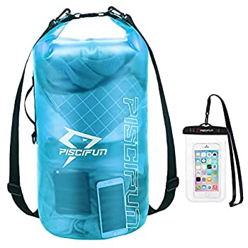 Piscifun Waterproof Dry Bag with Phone Case for Women and Men Transparent Dry Bag Lightweight Dry Bag Backpack for Beach Swimming Boating Kayaking Surfing and Fishing 2L Blue