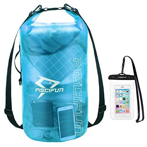 Piscifun Bolsa impermeable con funda para teléfono para mujeres y hombres, bolsa seca transparente 2L/5L/10L/20L/30L/40L