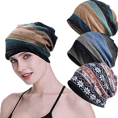 SIYWINA SIYWINA Beanie Mütze Blumen Kappe Schal für Damen und Herren Slouchy Wintermütze