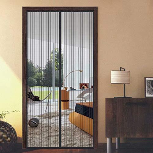Aiyaoo Fliegengitter Balkontür Breit 165x205cm Ausgezeichnete Windbeständigkeit Automatisches Schließen Einfach zu montieren Mehrere Größen für Dachfenster Bodentiefe Fenster - Schwarz