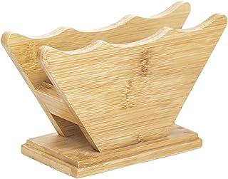 Dzsomt Porte Filtre à Café Boîte de Rangement en Papier Filtre Boite de Rangement Bambou Support de Rangement en Papier ...