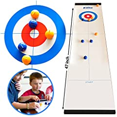 TRULY, FAMILY FUN IS SO IMPORTANT, THIS KIDS GAME'S FOR THE WHOLE FAMILY, seriously, please check out our reviews. we're getting an overwhelming response that this is a game for the whole family. This table-top curling game, is a more-fun-than-it-loo...