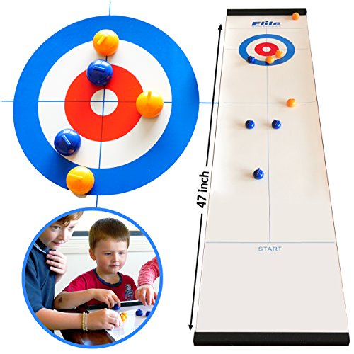 Elite Sportz Equipment Family Games for Kids and Adults - Fun Kids Games Ages 4 and Up - Way More Fun Than it Looks, is Quick and Easy to Set-Up and So Compact for Storage (A Curling Game)