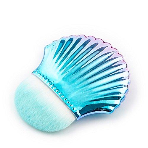 WOZOW Pinceau Maquillage Pinceaux Fond de Teint Poudre Outils Pinceau Contour Shell(Multicolore B)
