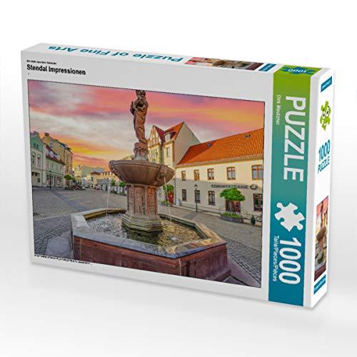 CALVENDO Puzzle Stendal Impressionen 1000 Teile Lege-Größe 64 x 48 cm Foto-Puzzle Bild von Dirk Meutzner