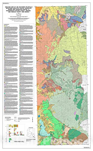 Historic Pictoric Map : Geologic map of The Southern Peloncillo Mountains; Skeleton Canyon, Guadalupe Spring, and Guadalupe Canyon, 7.5' Quadrangles, Coch, 2002 Cartography Wall Art : 16in x 24in