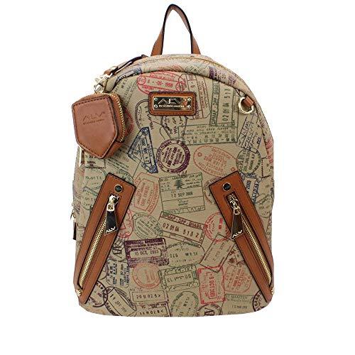 ALV Zaino-Backpack by Alviero Martini unisex Safari- 27,5X31X15