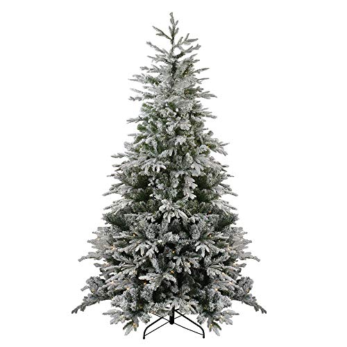 Northlight 7.5' Pre-Lit Medium Flocked Winfield Fir Artificial Christmas Tree - Warm White LED Lights
