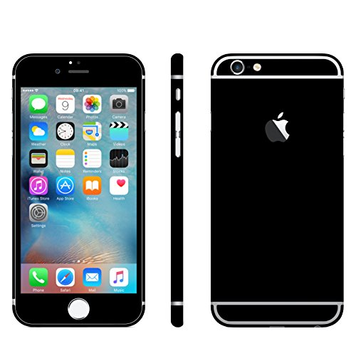 Leuchtkäfer Werbetechnik iPhone 6 / 6S SCHWARZ MATT Folie Skin ZUM AUFKLEBEN Bumper case Cover schutzhülle i Phone