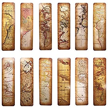 Vintage Style Bookmarks for Women Men, 30PCS (The Secret of Map)