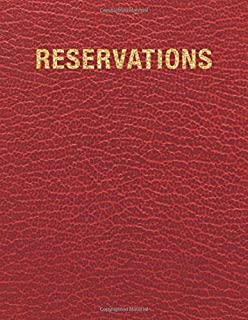 Reservations BookFactory Restaurant Reservations Book Soft Touch Wood Finish Cover Case Bound Dinner Reservations Book 408 Pages 8 7//8 x 13 1//2 LOG-408-OCS-AXE94000 365 Day Table Reservations