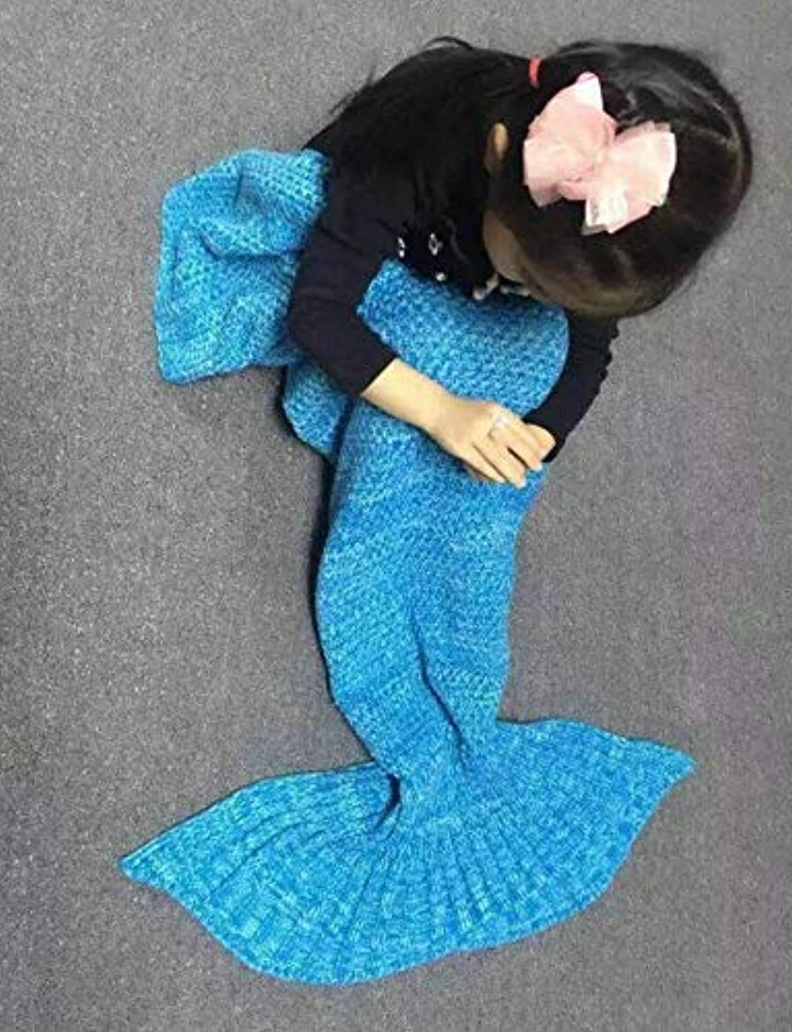 JINGB Home Mermaid air Conditioning Mermaid Tail, bluee, 195  95CM (76.8  37.4 inch) (color   The bluee, Size   195  95CM)