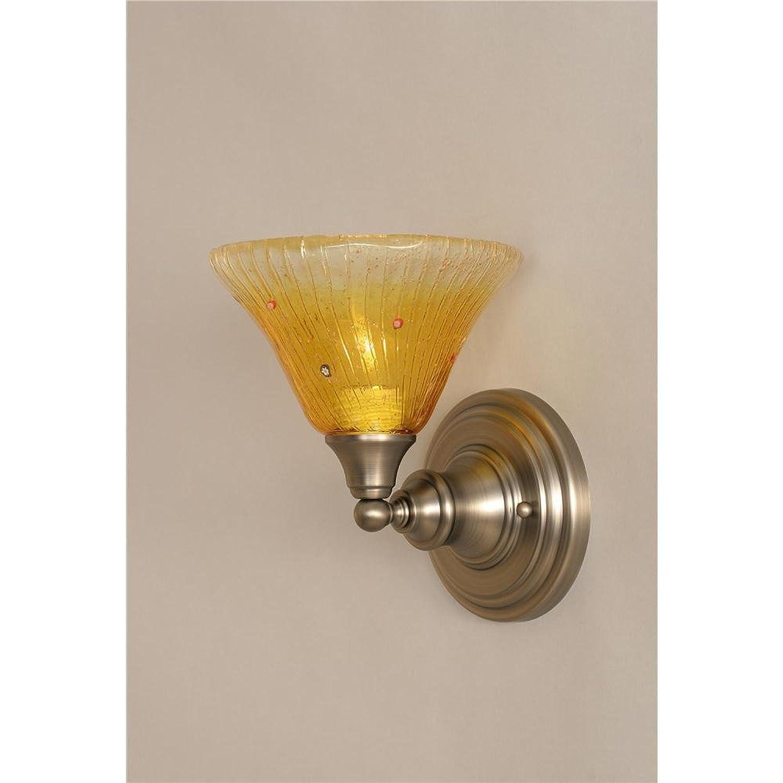 壁取り付け用燭台W 7で。ゴールドシャンパンクリスタルガラスシェード