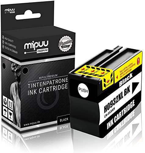 Mipuu Tinta Compatible HP 932XL CN053AE (Negro) para HP Officejet 6100 6600 6600E 6700 7110 7110 7510 7510A 7510 Wide 7610 7610AIO 7612-40ml