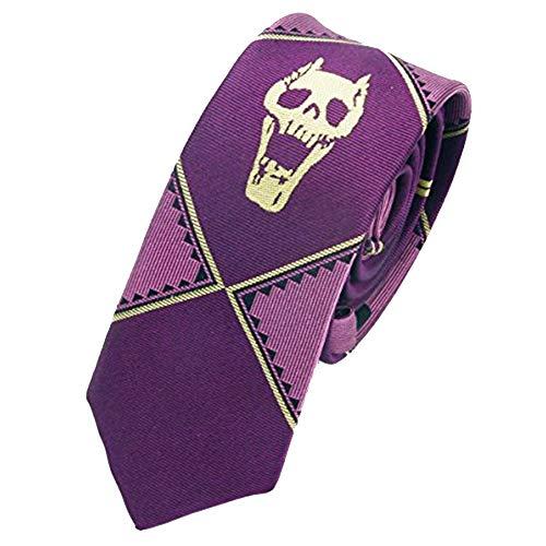 Cravatta in seta con scheletro di JoJo per costume cosplay Aramomo