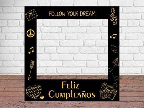 Photocall Feliz Cumpleaños Eventos o Celebraciones puntuales | 90x90cm | Ventanas Troqueladas | Photocall Divertido | Atrezzos