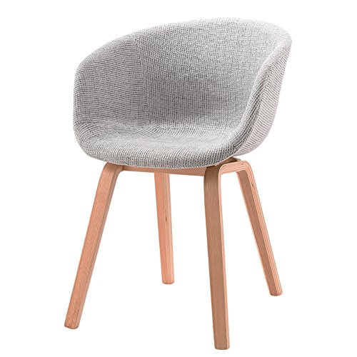 MENA Uk Designer Stuhl Sessel Stativ Hochwertiger Bent Wood Panton Designer Stuhl (Farbe : Hellgrau, größe : H75cm)