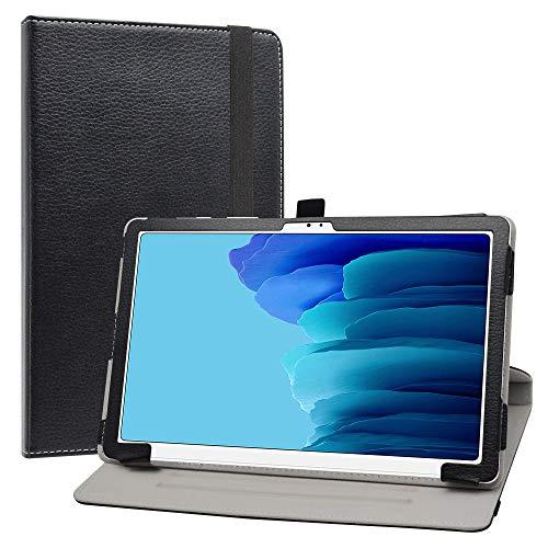 LiuShan Rotary Funda para Samsung Galaxy Tab A7, Folio Soporte PU Cuero con Funda Caso para 10.4' Samsung Galaxy Tab A7 10.4 (2020) T500 T505 Tablet,Negro