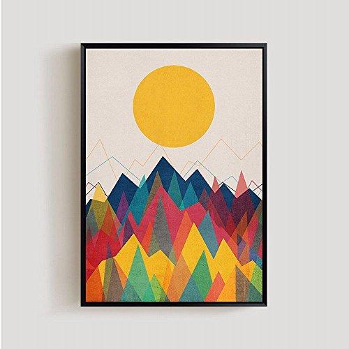 XH Modern Abstract Sun Sunrise Peinture Décorative Poster Décor de Noyau Peint,C,40 * 50CM