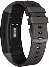 NotoCity Compatible Samsung Gear Fit2 Pro Band Solft Silicone Gear Fit2 Watch Strap for Samsung Gear Fit2 Pro Smartwatch Bans(Black, Large)
