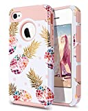 Fingic iPhone 4 Case,iPhone 4S Case,iPhone 4/4S Case with Pineapple, Floral Pineapple Case Hard PC&Soft Rubber Protective Case Cover for for iPhone 4/4S/4G,Pineapple/Rose Gold