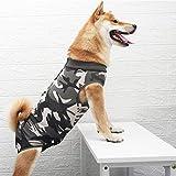 Solerconm - Traje de recuperación para perro, ropas quirúrgicas para cachorros, gatito, chaleco postoperatorio, adecuado para heridas o enfermedades de la piel severa (XXXL, camuflaje)