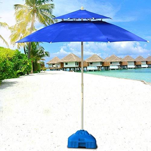 New Housewares Sun Parasol Sombrilla Sombrillas de jardín Sombrilla de jardín con Doble Techo para Patio al Aire Libre, Mercado de Eventos comerciales en la Playa, g, Lado de la Piscina (Color: Azul,