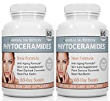 Phytoceramides from Rice with Biotin Vitamin A, C, D and E, Two Bottle Pack, 120 Capsules 40mg