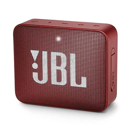 JBL GO 2 Mini Enceinte Portable - Étanche pour Piscine & Plage IPX7 - Autonomie 5hrs - Qualité Audio Bluetooth, Rouge