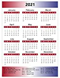 Magnetic 2021 Full Yearly Calendar by DCM Solutions (Patriotic, 8' W x 10.5' H)