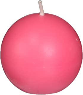 Zest Candle 12-Piece Ball Candles, 2-Inch, Hot Pink
