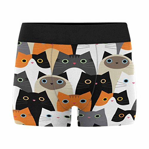 InterestPrint Boxer Briefs Men's Underwear Cute Cats M