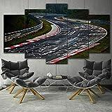 5 Panel/Set Lienzos Handart Cuadro En Lienzo Cinco Partes HD Clásico Óleo Impresiones Decorativas Cartel Arte Pared Pinturas Hogar Lienzo Automotor del Circuito De Nürburgring