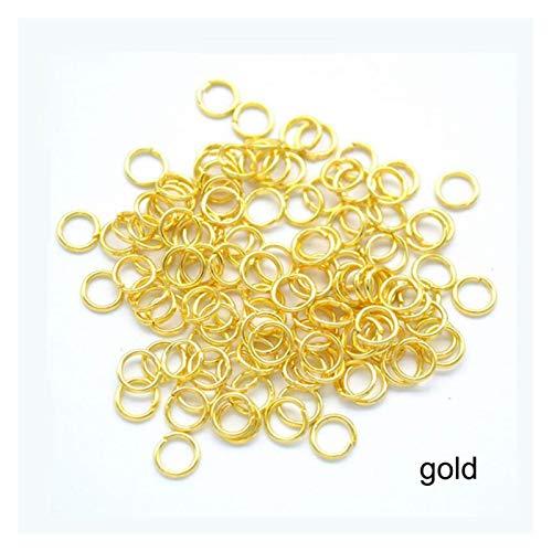 De múltiples fines 200pcs / lote anillos de salto con los conectores de los anillos divididos para la joyería de bricolaje para encontrar suministros de accesorios para la fabricación de joyas de bric