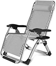 ZNBJJWCP Multifunction Modern and Simple Siesta Fold Chair Lazy Recliners with Backrest Beach Holiday Household Portable S...