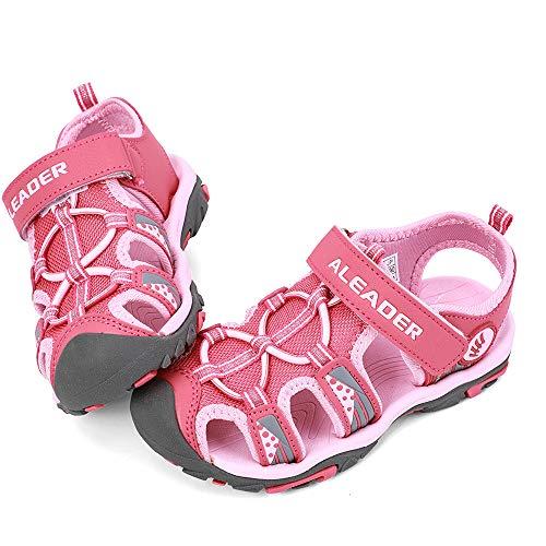 ALEADER Kids Youth Sport Water Hiking Sandals | Summer Outdoor Walking Sneakers(Toddler/Little Kid/Big Kid) Pink 8 M US Toddler