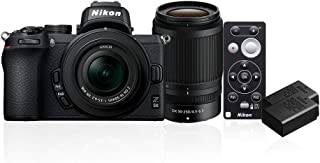 Nikon Z 50 Twin Lens Kit + ML-L7 Remote + Additional EN-EL25 Battery, Black