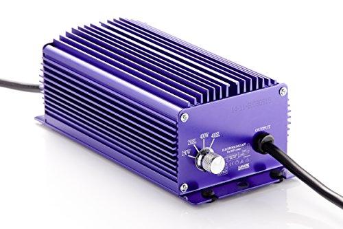400-W Natriumdampflampe Grow-set mit Hammerschlagreflektor und Blüte Leuchtmittel Bausatz (400-Watt Lumatek EVG Dimmbar) NDL Pflanzenlampe HPS Digitales EVG oder Magnetisches Vorschaltgerät