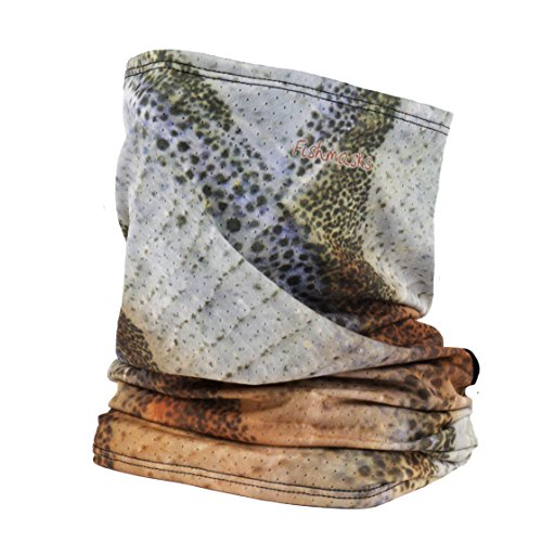 Fishmasks Single Layer Neck Gaiter - Protection From Sun, Surf, Wind And Moisture, For Men And Women - Fishing Neck Gaiter Made In The USA - UPF 50+, Moisture-Wicking Performance Fabric {Chub}