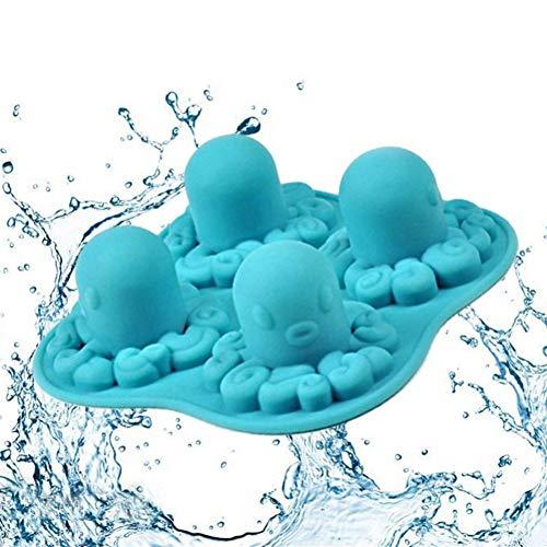 ZHENGCHENG Octopus Mold Silikonkugel Eiswürfel Eisformen Kuchenform Kochwerkzeuge DIY Octopus Form Eiswürfel Einzigartiges Eiswerkzeug