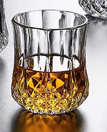 Transparante glazen beker thuis bier wodka whisky glaswerk bar persoonlijkheid wijnglas, B lili (Color : B)